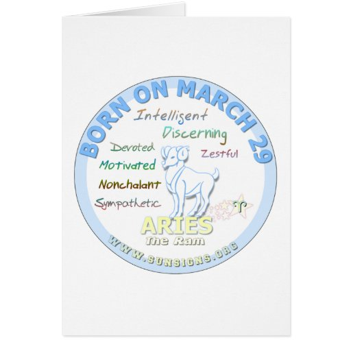 March 29th Birthday - Aries Greeting Card