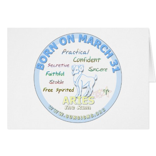 March 31st Birthday - Aries Greeting Cards