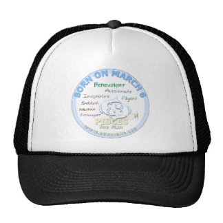 March 6th Birthday - Pisces Hats