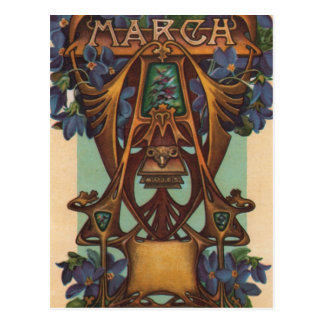 March - Aries Postcard