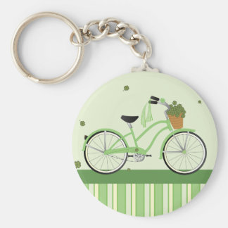 March Bicycle Basic Round Button Key Ring