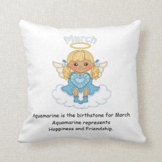 March Birthstone Angel Blonde Throw Cushions