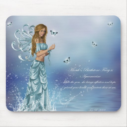 March Birthstone Fairy Mousepads