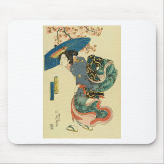 March - Cherry blossom viewing by Keisai Eisen Mouse Pad