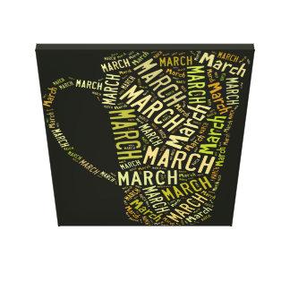 March Coffee Mug Stretched Canvas Print