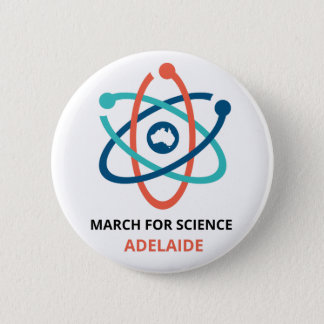 March for Science - Adelaide - 6 Cm Round Badge