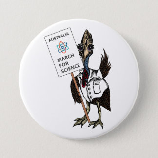 March for Science Australia - Cassowary - 7.5 Cm Round Badge