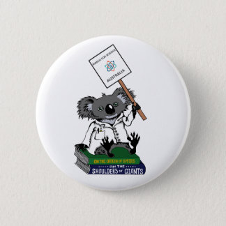 March for Science Australia - Koala - 6 Cm Round Badge