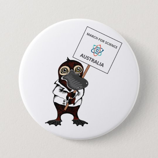 March for Science Australia - Platypus - 7.5 Cm Round Badge
