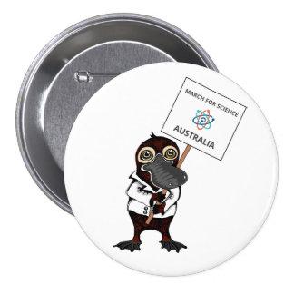 March for Science Australia - Platypus - 7.5 Cm Round Badge