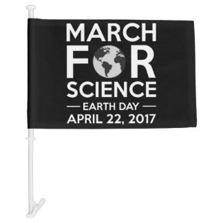 March For Science Earth 2017 Car Flag