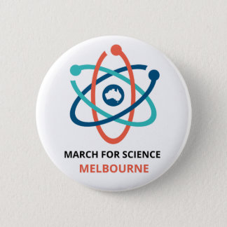 March for Science - Melbourne - 6 Cm Round Badge