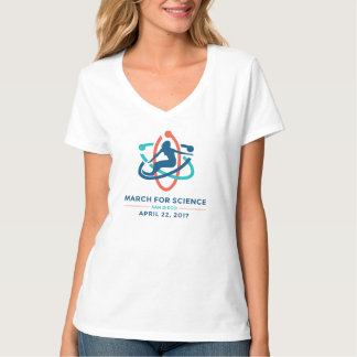 March For Science: San Diego - White Women's Vneck T-Shirt