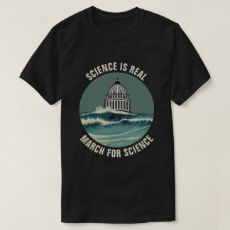 March For Science Sea Level Rise Unofficial T-Shirt