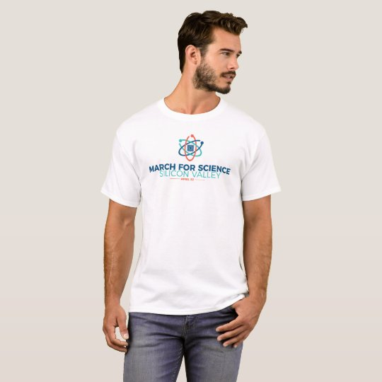 March for Science SV Men's Basic T-shirt White