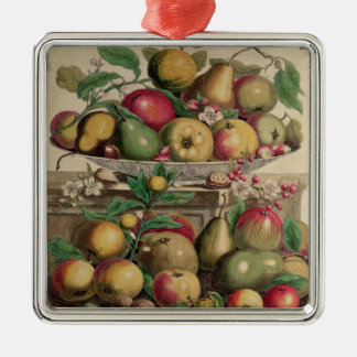 March, from 'Twelve Months of Fruits' Silver-Colored Square Decoration