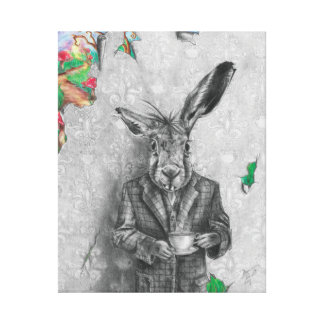 March Hare Art Canvas Alice in Wonderland Art