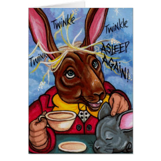 MARCH HARE & DORMOUSE Alice in Wonderland Note Car Greeting Card