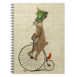 March Hare on Penny Farthing 3 Notebooks