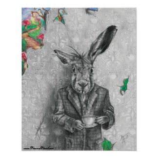 March Hare Poster Alice in Wonderland Poster