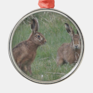 March Hares Christmas Ornament