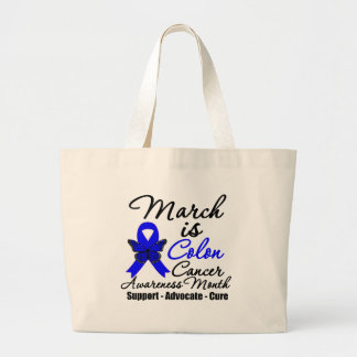 March is Colon Cancer Awareness Month Tote Bags