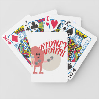 March - Kidney Month - Appreciation Day Bicycle Playing Cards