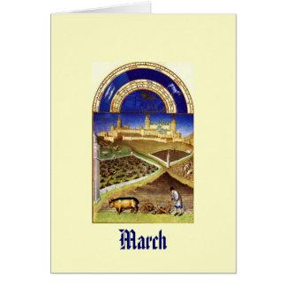 March - Les Tres Riches Heures du Duc de Berry Card