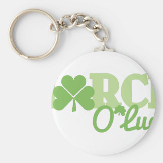 March O Luck Basic Round Button Key Ring