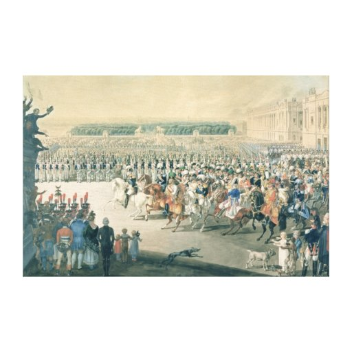 March of the Allied forces into Paris, 1815 Canvas Prints