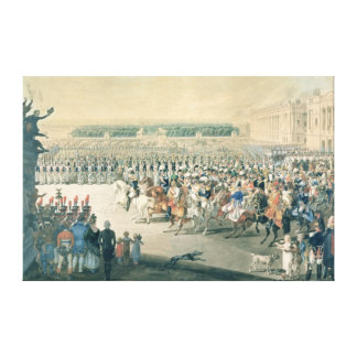 March of the Allied forces into Paris, 1815 Stretched Canvas Print