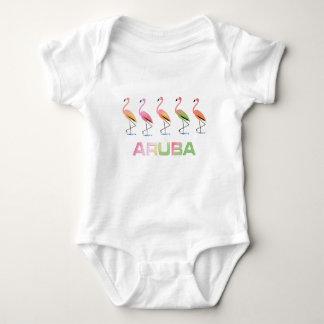 March of the Tropical Flamingos ARUBA Baby Bodysuit