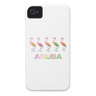 March of the Tropical Flamingos ARUBA iPhone 4 Cover