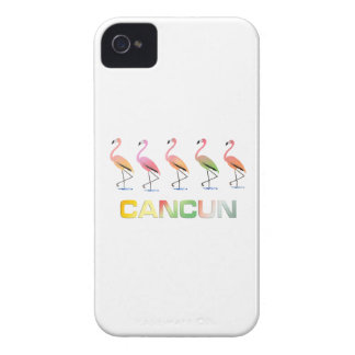 March of the Tropical Flamingos CANCUN iPhone 4 Case