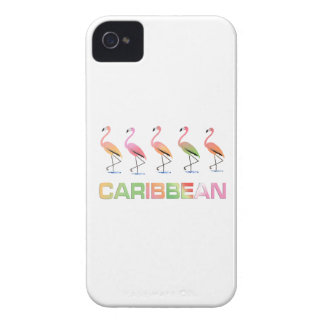 March of the Tropical Flamingos CARIBBEAN iPhone 4 Cover