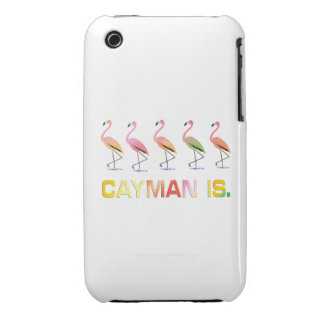 March of the Tropical Flamingos CAYMAN IS iPhone 3 Cases