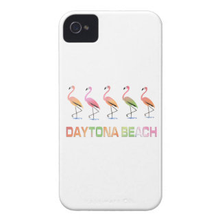 March of the Tropical Flamingos DAYTONA BEACH iPhone 4 Case-Mate Cases