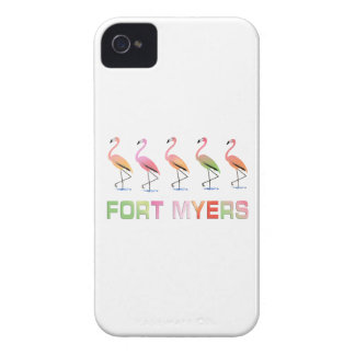 March of the Tropical Flamingos FORT MYERS Case-Mate iPhone 4 Case