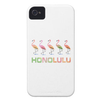 March of the Tropical Flamingos HONOLULU iPhone 4 Cases