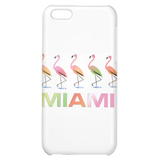 March of the Tropical Flamingos MIAMI Cover For iPhone 5C