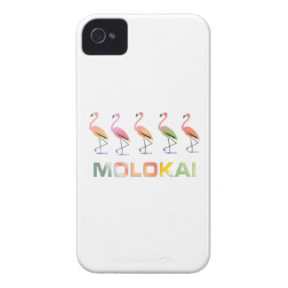 March of the Tropical Flamingos MOLOKAI iPhone 4 Cases