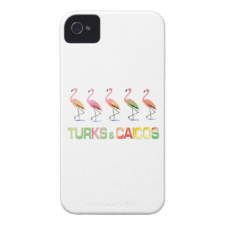 March of the Tropical Flamingos TURKS & CAICOS iPhone 4 Case-Mate Cases