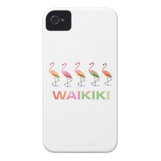 March of the Tropical Flamingos WAIKIKI iPhone 4 Cover