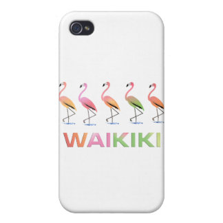 March of the Tropical Flamingos WAIKIKI Case For iPhone 4
