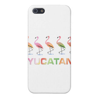 March of the Tropical Flamingos YUCATAN iPhone 5 Case