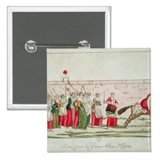 March of the Women on Versailles 15 Cm Square Badge