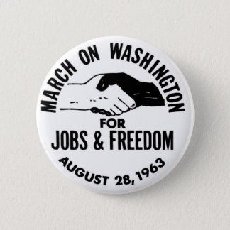 March on Washington 1963 6 Cm Round Badge