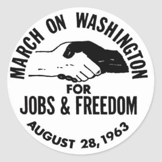 March on Washington 1963 Classic Round Sticker