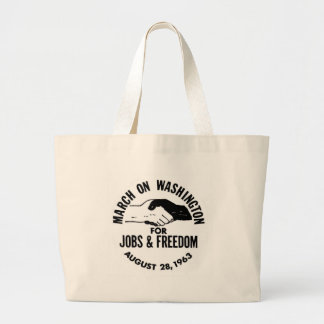 March on Washington 1963 Large Tote Bag