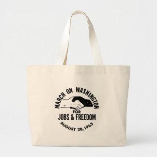 March on Washington 1963 Large Tote Bag